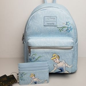 Loungefly Cinderella Mini Backpack and Cardholder